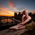 Ballerina on the Brooklyn Bridge NYC
